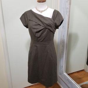 J. Crew Wool Origami Asymmetrical Neckline Dress 4